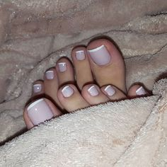The stunning long toes and perfect nails of Lara Belos French Pedicure, Manicure Y Pedicure, French Tip Nails, French Toes, Nice Toes, Pretty Toes, Pretty Nails, Sexy Nails, Sexy Toes