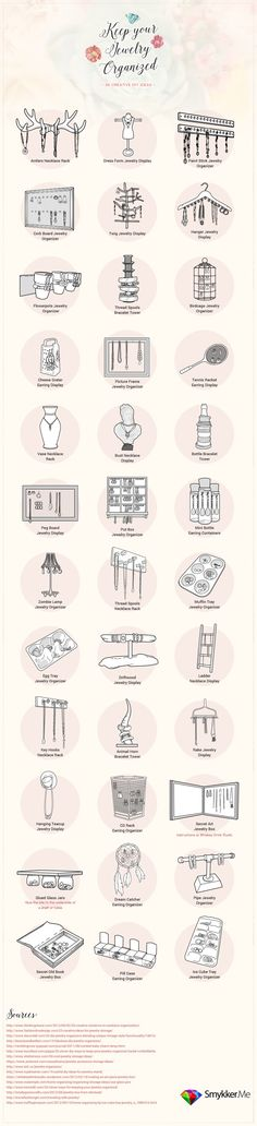 Keep Your Jewelry Organized - - 36 Creative DIY Ideas!