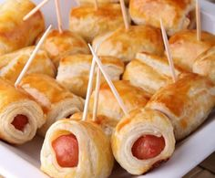 Feuilletés apéritif (allumettes au fromage, feuilletés à la saucisse) - Tea Recipes, Cooking Recipes, Tapas, Fingers Food, High Tea Food, Snacks Für Party, Food Inspiration, Appetizer Recipes, Kids Meals
