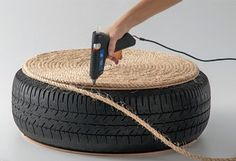 ou are currently showing here the result of your DIY Tire Ottoman Furniture Tutorial Ideas. You can see here that How to make a Tire Ottoman Furniture with Tire Furniture, Garden Furniture Design, Diy Outdoor Furniture, Upcycled Furniture, Ottoman Furniture, Rope Tire Ottoman, Diy Ottoman, Sisal, Diy Divan