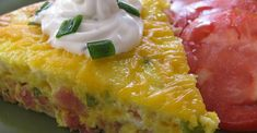 This baked Denver omelet is really a frittata with ham, bell pepper, onion, and Cheddar cheese -- all the classic ingredients of the original. Breakfast For Dinner, Paleo Breakfast, Breakfast Casserole, Breakfast Recipes, Egg Recipes, Brunch Recipes, Denver Omelet Recipe, Baked Asparagus, Best Low Carb Recipes