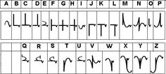 Mesa cursive alphabet