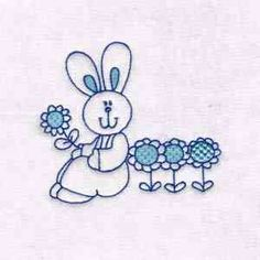 This free embroidery design is a partially filled bunny. Get it today.