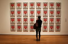Andy Warhol's original Campbell's Soup cans artwork on display at the MoMA, New York Andy Warhol Biography, Andy Warhol Works, Sun In Gemini, Campbell's Soup Cans, Pop Art, Campbell Soup Company, Museum Studies, My Astrology, Laser Cut Stencils