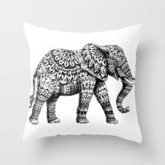 Ornate Elephant 3.0 Throw Pillow