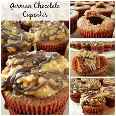 These German Chocolate Cupcakes are a favorite of ours. Easy to make and oh so yummy! Our favorite Chocolate cupcake topped with German Chocolate Frosting