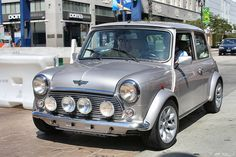 199x Austin Mini Cooper - silver - fvl2 by Rex Gray, via Flickr