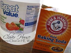 Clover House: Cleaning an HE Washer with Household Products