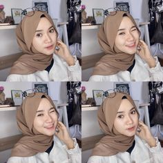 One of my favorite scarf (Zara Basic Shawl) in Dark Army from cintakuuuu🤎🤎🤎 Casual Hijab Outfit, Ootd Hijab, Hijab Fashion, Fashion Outfits, Hijab Tutorial, Selfie Time, Photography Poses, Fashion Photo, Muslim