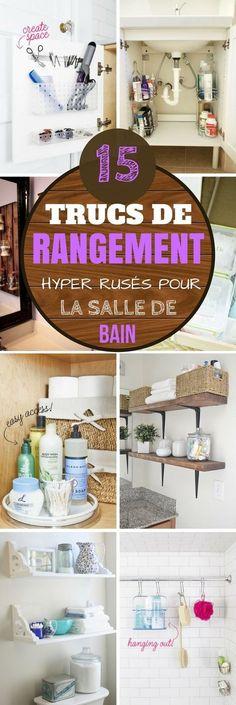 15 TRUCS DE RANGEMENT HYPER RUSÉS POUR LA SALLE DE BAIN ! TESTEZ-LES ;) #astuces #rangement #trucs #trucsetastuces #salledebain #douche #bain #lavabo