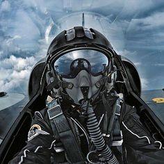 Cockpit avion de chasse