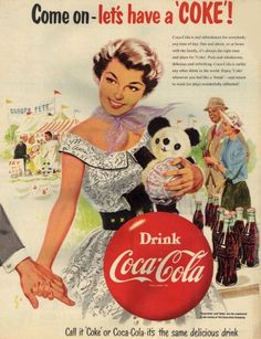 Vintage CocaCola Ad With A Fair Or Carnival Scene