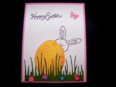 Studio G bunny head stamped cards