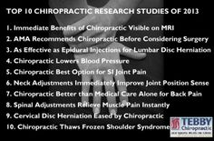 10 #Chiropractic Research Studies Of 2013. Tebby Chiropractic and Sports Medicine Clinic.