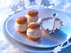 Découvrez la recette Biscuits glacés et crème vanille sur cuisineactuelle.fr.