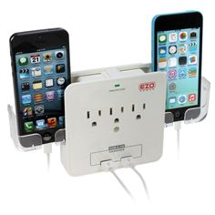Ezopower Wall Mount Power Surge Protector Charging Station