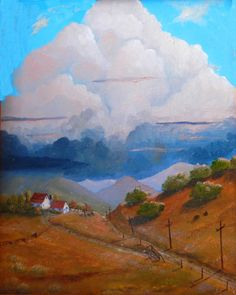 Paintings of farms Farm scenes Landscapes by KentJacobsonArtist