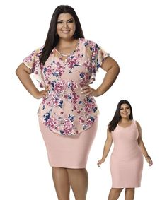 Ropa hermosa Fashion Sewing, Curvy Fashion, Plus Size Fashion, Plus Size Blouses, Plus Size Dresses, Plus Size Outfits, Curvy Outfits, Chic Outfits, Fashion Outfits