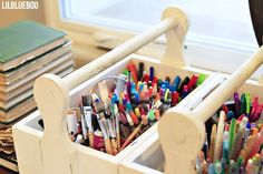 Keep those crayons and art supplies in order with Ashley Hacksaw