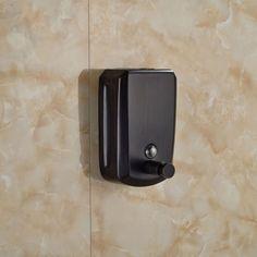 800ML-Wall-Mount-Liquid-Soap-Dispenser-Oil-Rubbed-Bronze-Manual-Soap-Shampoo-Box