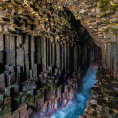Mysterious Fingal's Cave in Scotland