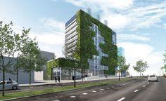 impressie nieuwe Stadskantoor Venlo Netherlands, Sustainability, Multi Story Building, Lights, Buildings, City, Green, Beautiful, The Nederlands