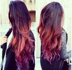 Love This Brown Orange Purple Ombre Hair My Personal Brown To Purple Ombre Hair…