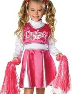 Déguisement de pom pom girl pour fille enfant / Kid little girl Cheerleader costume