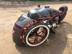 "Russian Craftsmen Built This Steampunk Trike Inspired By ""Joseph Stalin"" Locomotive Concept Motorcycles, Cool Motorcycles, Triumph Motorcycles, Custom Trikes, Scrambler Custom, Steampunk Photography, Moto Bike, Motorcycle Touring, Girl Motorcycle"