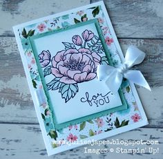 Julie Kettlewell - Stampin Up UK Independent Demonstrator - Order products 24/7: More Birthday Blooms