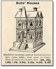 Vintage Dolls' House. 1902.