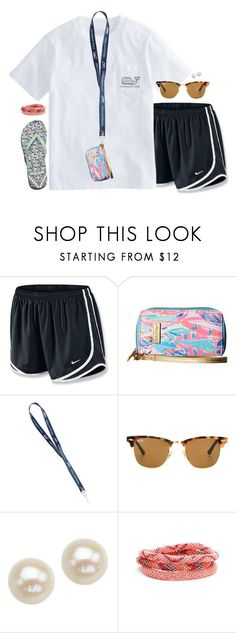 nike shoes I need new clothes so I can make different outfits by aweaver-2 on Polyvore featuring NIKE, Lilly Pulitzer, Ray-Ban, Honora and Aid Through Trade