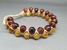 8,5 gr Genuine Natural Baltic Amber Bracelet No Enhancement Citrine/Cognac #Amber #Beaded