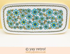 Large Flower Power Tray - Retro and Vintage China, Glassware and Kitchenalia - yay retro!