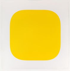 Yellow -- Color lithograph, by Ellsworth Kelly Black Square Painting, Ellsworth Kelly, Computer Basics, Simple Shapes, Op Art, Modern Art, Fine Art Prints, Abstract, Yellow