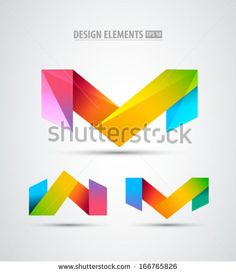 Vector Origami Icons Design Elements Abstract Logo
