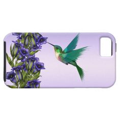 Purple Violets Purple Hummingbird iPhone Case iPhone 5 Cases #zazzle #leatherwooddesign #smartphone see on covers for other cell phones