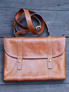 Jeff Thomsen Collection - Tablet and Document Cases, hand crafted, genuine leather - DOC006 Tan Two tone with a nice shine