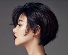 Short Hairstyles and Haircuts - Black Haircut Styles Messy Short Hair, Girl Short Hair, Short Hair Cuts, Short Pixie, Asian Short Hair, Pixie Cuts, Korean Short Hairstyle, Women Short Hair, Short Hair Tomboy