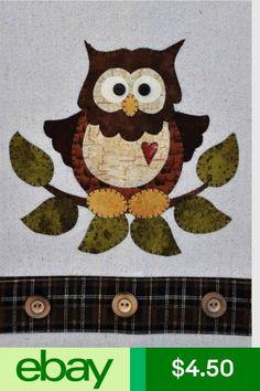 Little Hoot Owl ~ Wooden Bear Quilt Designs ~ Applique Pattern ~ tea towel Owl Applique, Applique Templates, Applique Patterns, Sewing Appliques, Applique Quilts, Quilt Patterns, Owl Quilt Pattern, Owl Templates, Owl Quilts