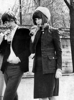 Mick Jagger and Chrissie Shrimpton photographed in 1963.
