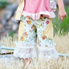 persnickety clothing girls floral pocket capri $52.00 - $56.00