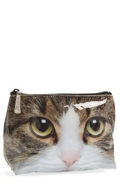 Catseye London 'Small Tabby Cat' Cosmetics Bag available at #Nordstrom there are #nowords for how #amazing this bag is!!