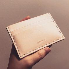 "35 Likes, 2 Comments - OCKHAM Logbook (@ockhamlogbook) on Instagram: ""vegetable leather card holder . . . improved stitching and edge finishing """
