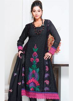 Sophisticated Black Churidar Suit