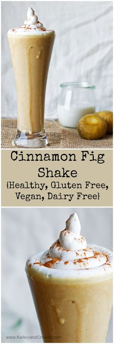 This creamy, smooth, and sweet cinnamon fig shake is so delicious! You'll never know it's actually good for you, and it's vegan and gluten free!