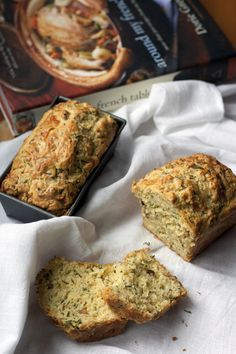 Savory Cheddar & Chive Bread- I wonder how these would be as muffins? Side dish to chili?