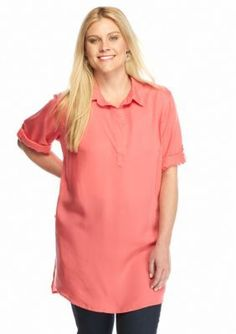 Grace Elements  Plus Size Collared Tunic
