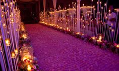 Looking for Candle lit passage decor? Browse of latest bridal photos, lehenga & jewelry designs, decor ideas, etc.