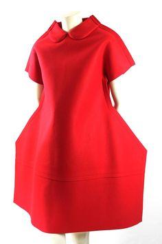 Comme des Garcons AD 2012 Wool Felt Flat Pack 2-D Dress 3